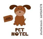 pet hotel vector illustration    Shutterstock .eps vector #669069478