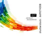 Rainbow Colorful Square Curve...