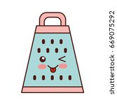 kitchen grater kawaii character | Shutterstock .eps vector #669075292