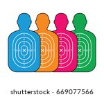 group of men paper targets   Shutterstock .eps vector #669077566
