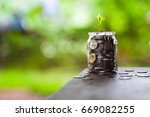 collect money | Shutterstock . vector #669082255