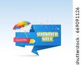 summer sale website banner. ad... | Shutterstock .eps vector #669091126
