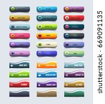 glossy style multicolored... | Shutterstock .eps vector #669091135