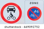 no cars motorcycles  scooters... | Shutterstock . vector #669092752