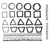 hand draw line | Shutterstock .eps vector #669098566