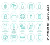 plastic packaging  disposable... | Shutterstock .eps vector #669101686