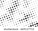 abstract halftone dotted... | Shutterstock .eps vector #669117712