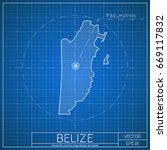 belize blueprint map template... | Shutterstock .eps vector #669117832