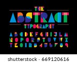 vector of modern abstract font... | Shutterstock .eps vector #669120616