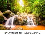 the beauty of tropical forests. ... | Shutterstock . vector #669123442