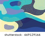 creative geometric colorful... | Shutterstock .eps vector #669129166