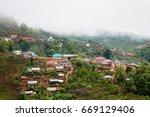 Village Along The Cliffs