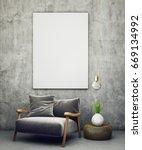modern living room interior... | Shutterstock . vector #669134992