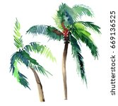 beautiful bright cute green... | Shutterstock . vector #669136525