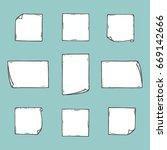 sticky notes vector set. hand... | Shutterstock .eps vector #669142666