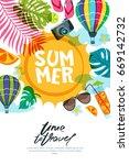 vector banner  poster or flyer... | Shutterstock .eps vector #669142732