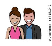 happy couple icon  | Shutterstock .eps vector #669151042