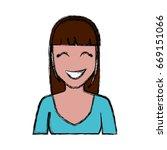 cartoon woman icon  | Shutterstock .eps vector #669151066