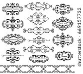 vector hand drawn decorative... | Shutterstock .eps vector #669157732