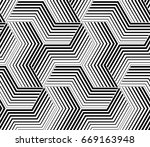 the geometric pattern with... | Shutterstock . vector #669163948