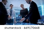 team of corporate managers... | Shutterstock . vector #669170668