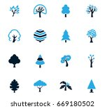 tree vector icons for user... | Shutterstock .eps vector #669180502