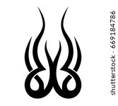 tribal tattoo art designs.... | Shutterstock .eps vector #669184786