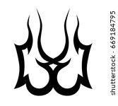 tattoo tribal vector design.... | Shutterstock .eps vector #669184795