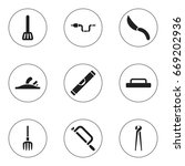 set of 9 editable apparatus...