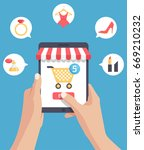 online shopping or mobile... | Shutterstock .eps vector #669210232