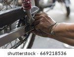 motorcycles that have been... | Shutterstock . vector #669218536