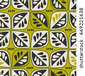 seamless retro pattern with... | Shutterstock .eps vector #669221638