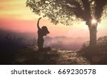 bible story  eve and forbidden... | Shutterstock . vector #669230578