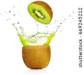 green juice exploding out of a... | Shutterstock . vector #669245212