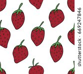 seamless pattern with... | Shutterstock .eps vector #669247846