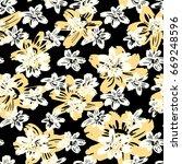 seamless vector flkoral pattern.... | Shutterstock .eps vector #669248596