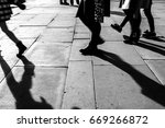 shadow of people walking in...   Shutterstock . vector #669266872