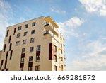 modern  luxury apartment... | Shutterstock . vector #669281872
