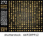 set of icons  quality universal ... | Shutterstock .eps vector #669289912