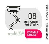 industrial mechanical robot arm ... | Shutterstock .eps vector #669294556