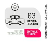 autonomous self driving icon....   Shutterstock .eps vector #669295036