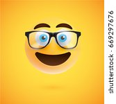 high detailed smiley with... | Shutterstock .eps vector #669297676