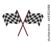final lap flags icon image  | Shutterstock .eps vector #669302488