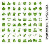 set of agriculture and... | Shutterstock .eps vector #669302866