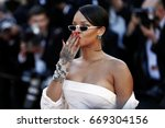 cannes  france   may 19  singer ... | Shutterstock . vector #669304156