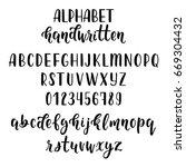 handdrawn latin calligraphy... | Shutterstock .eps vector #669304432