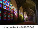 nasir al molk mosque in shiraz  ... | Shutterstock . vector #669305662