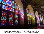 nasir al molk mosque in shiraz  ... | Shutterstock . vector #669305665