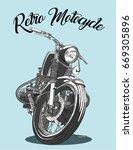 motocycle | Shutterstock .eps vector #669305896