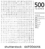 set of 500 icons. user...